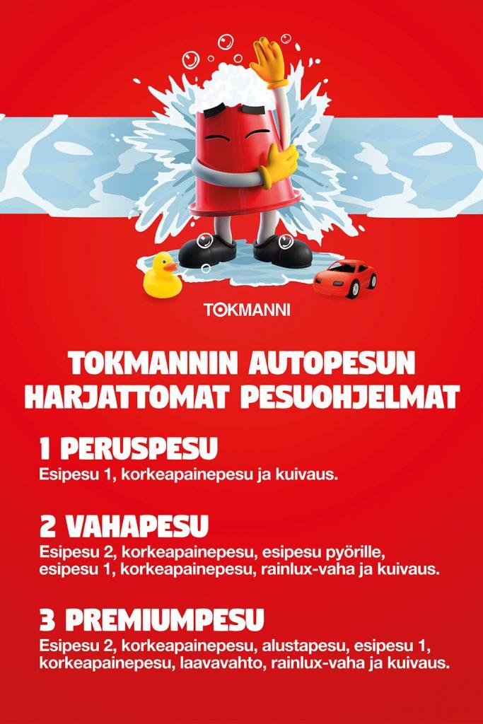 Tokmannin Autopesun autopesuohjelmat